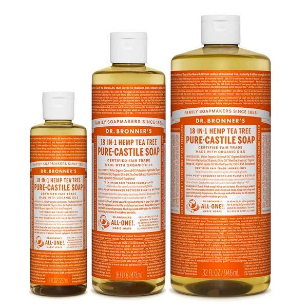 jabon liquido de castilla arbol te dr bronners tienda cosmetica natural barcelona espana comprar belleza organica