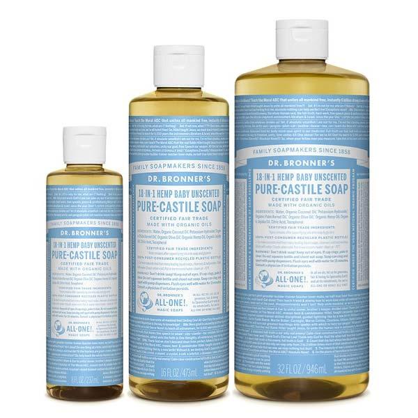 jabon liquido de castilla bebe baby dr bronners tienda cosmetica natural barcelona espana comprar belleza organica