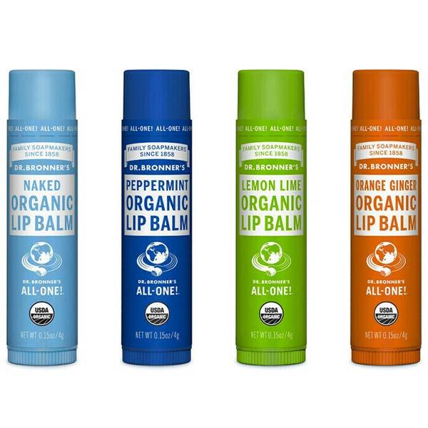menta naranja balsamos labiales organicos dr bronners tienda cosmetica natural barcelona espana comprar belleza organica