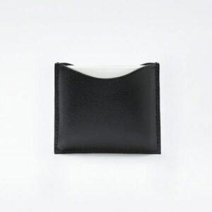 estuche compacto de cuero fino negro vegano la bouche rouge tienda cosmetica natural barcelona espana comprar belleza organica